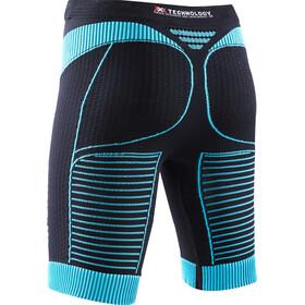 X-Bionic W's Effektor Power Running Pants Short Black/Turquoise